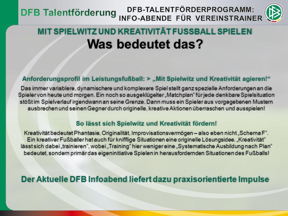 Was bedeutet das DFB Talentförderung