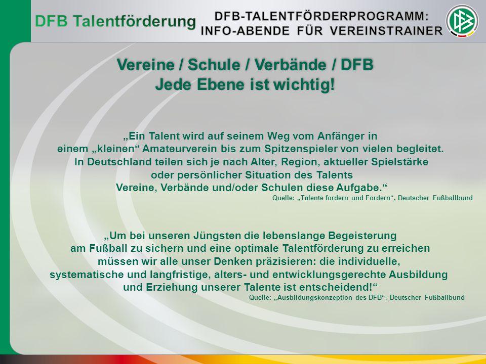Vereine / Schule / Verbände / DFB Jede Ebene ist wichtig!