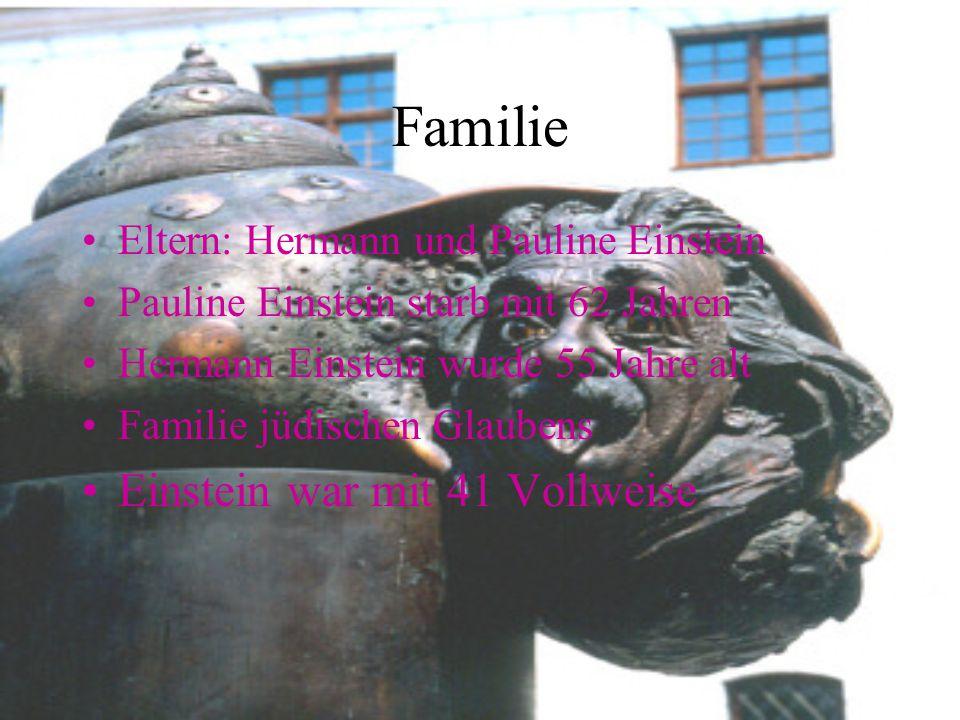 Familie Einstein war mit 41 Vollweise