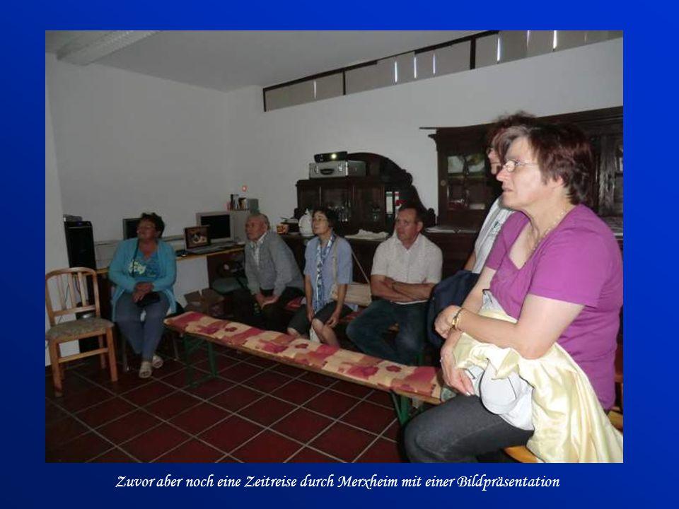 Zuvor aber noch eine Zeitreise durch Merxheim mit einer Bildpräsentation