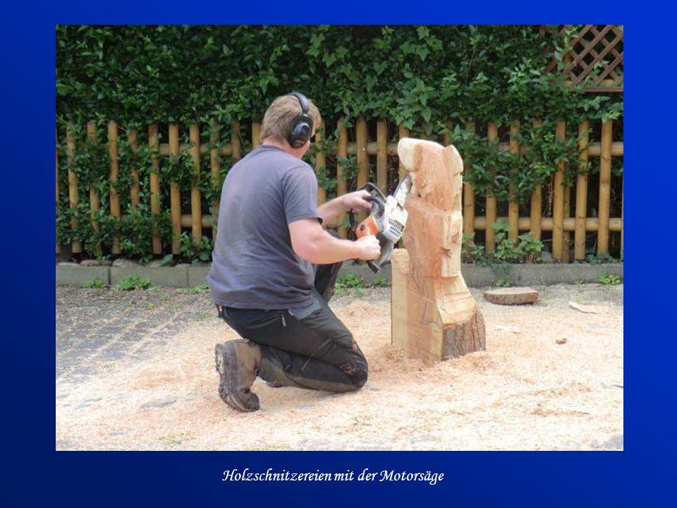 Holzschnitzereien mit der Motorsäge