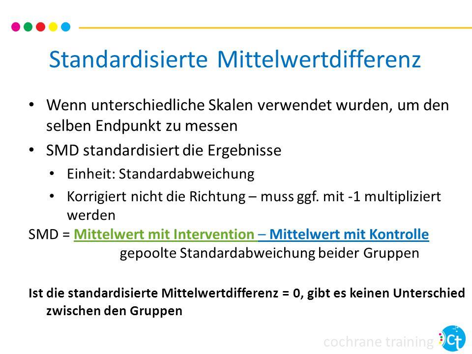 Standardisierte Mittelwertdifferenz