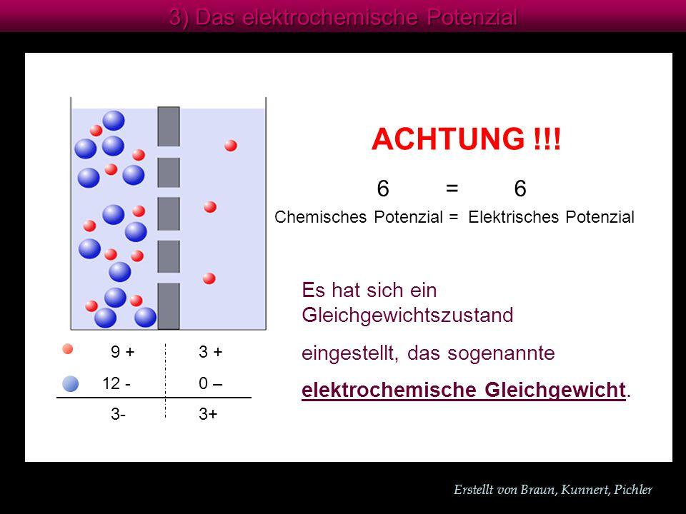 ACHTUNG !!! 3) Das elektrochemische Potenzial 6 = 6