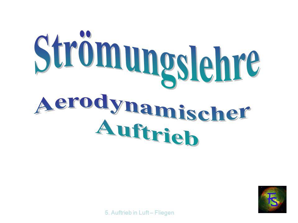 Strömungslehre Aerodynamischer Auftrieb
