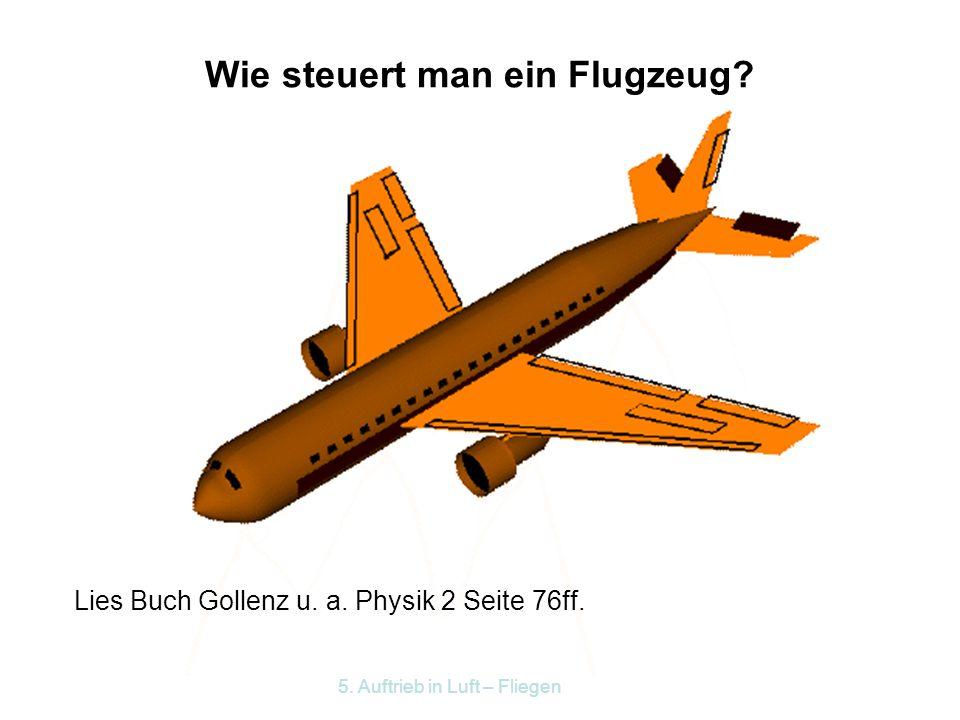 Wie steuert man ein Flugzeug