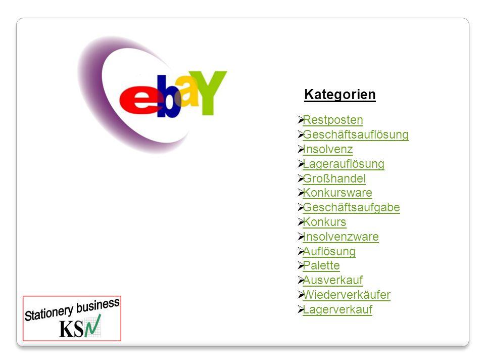 Kategorien Restposten Geschäftsauflösung Insolvenz Lagerauflösung