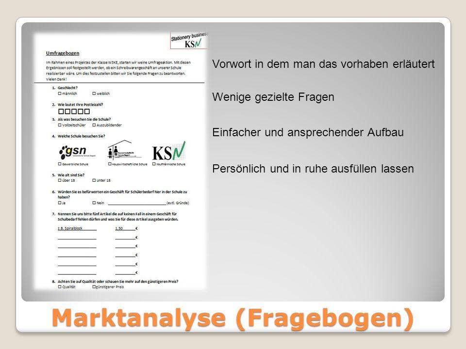 Marktanalyse (Fragebogen)