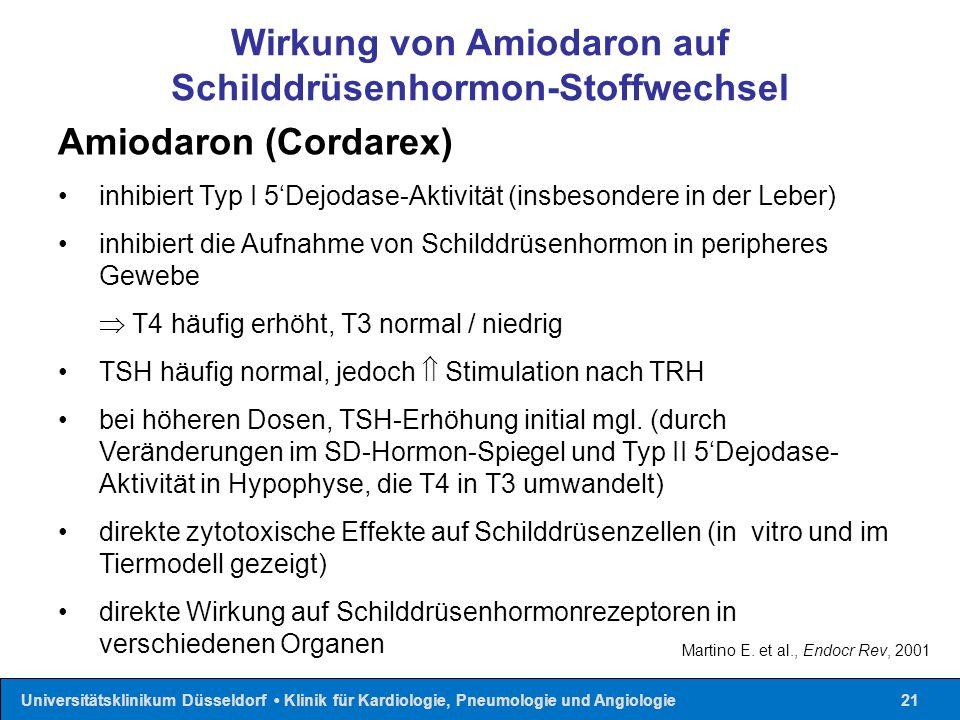 Wirkung von Amiodaron auf Schilddrüsenhormon-Stoffwechsel