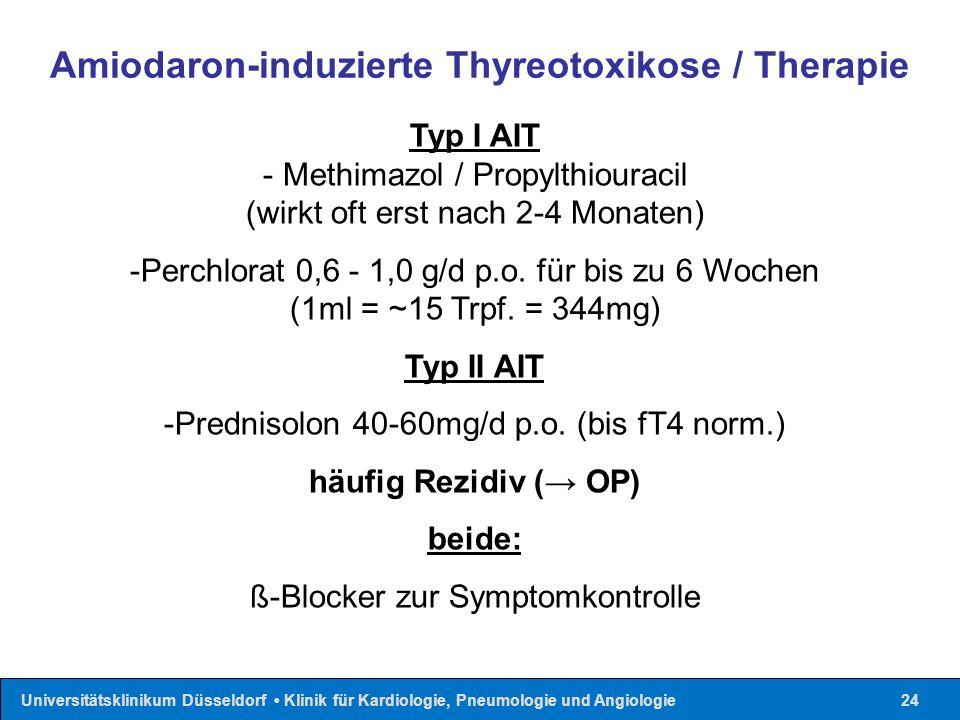 Amiodaron-induzierte Thyreotoxikose / Therapie