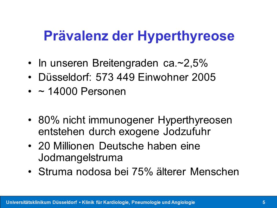 Prävalenz der Hyperthyreose