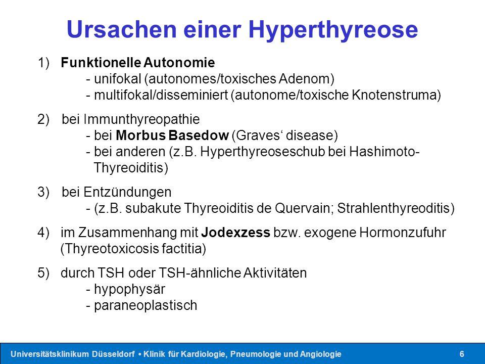 Ursachen einer Hyperthyreose