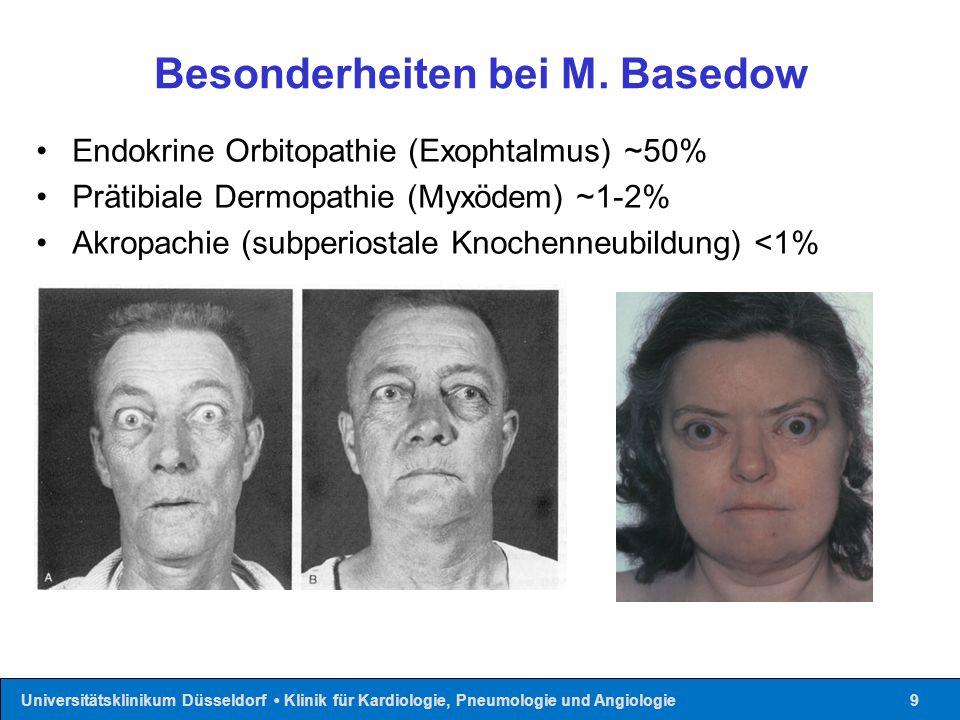 Besonderheiten bei M. Basedow