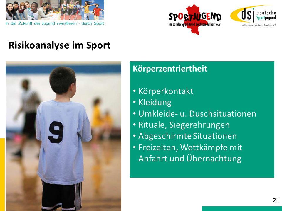 Murmelrunde Risikoanalyse im Sport Körperzentriertheit Körperkontakt