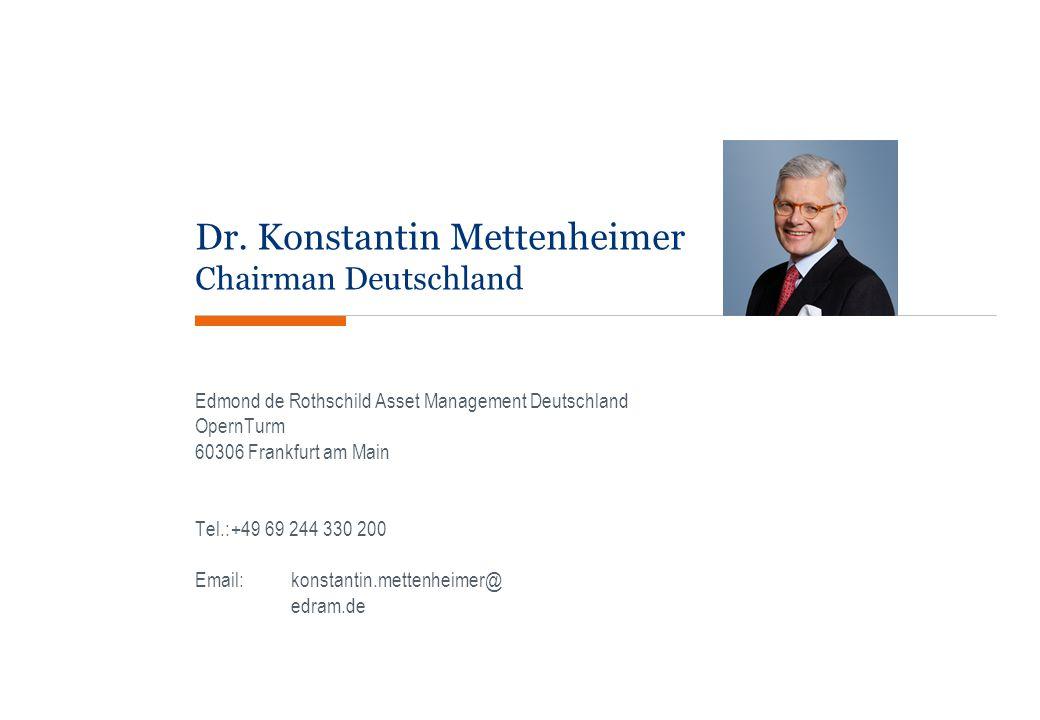 Dr. Konstantin Mettenheimer Chairman Deutschland
