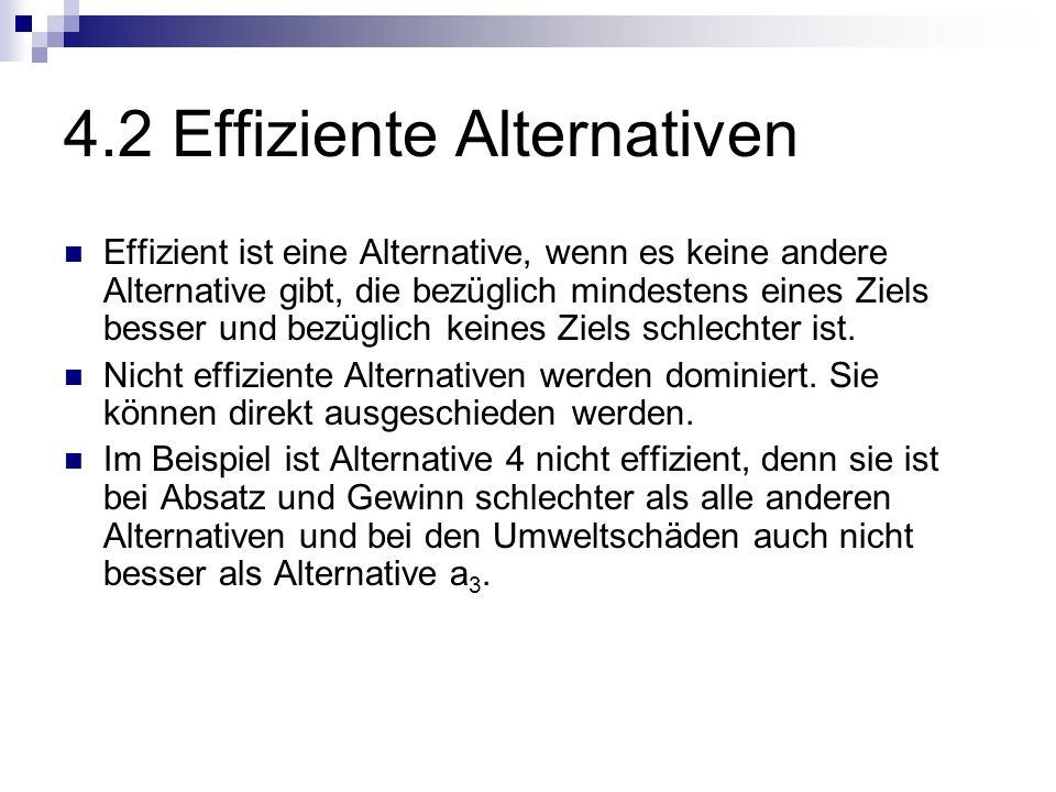 4.2 Effiziente Alternativen