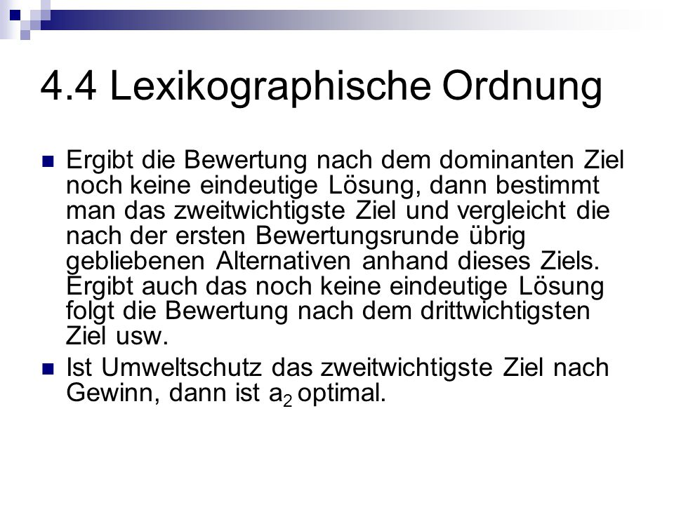 4.4 Lexikographische Ordnung