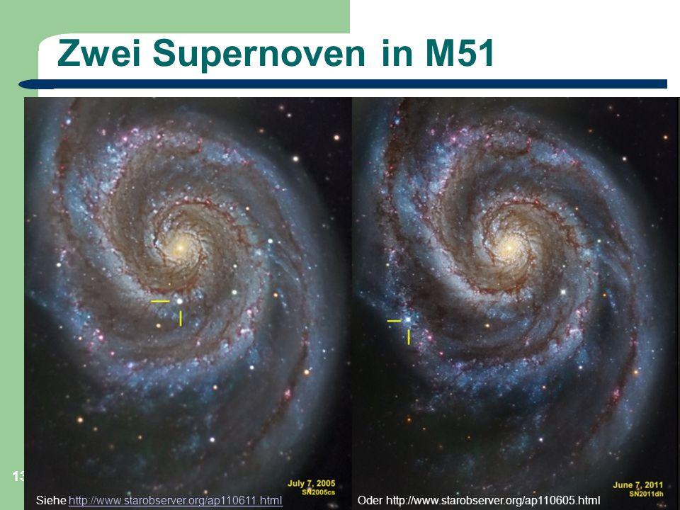Zwei Supernoven in M51 Astronomie, Kl. 9, Sternreise 1