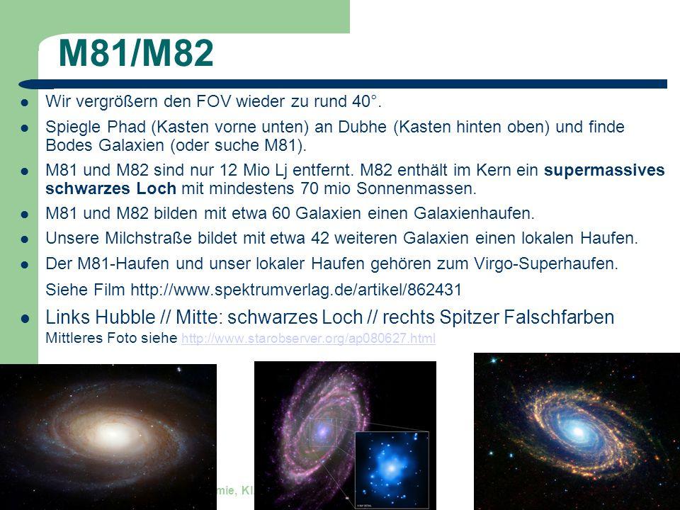 M81/M82 Wir vergrößern den FOV wieder zu rund 40°.