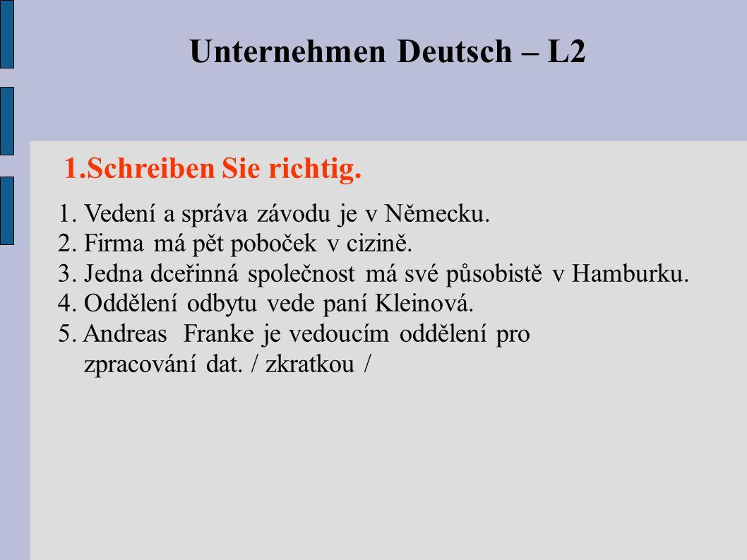 Unternehmen Deutsch – L2