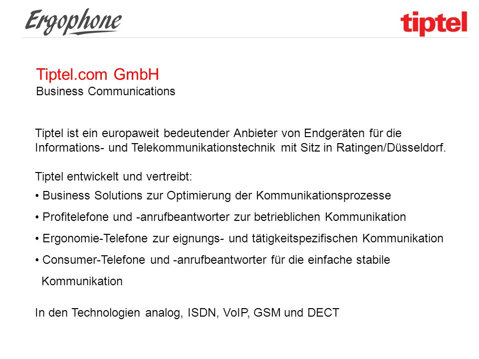 Tiptel.com GmbH Business Communications