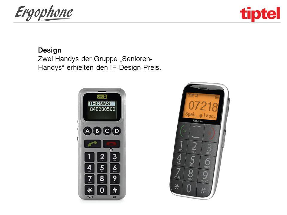 """Design Zwei Handys der Gruppe """"Senioren-Handys erhielten den IF-Design-Preis."""