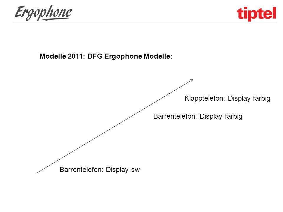 Modelle 2011: DFG Ergophone Modelle: