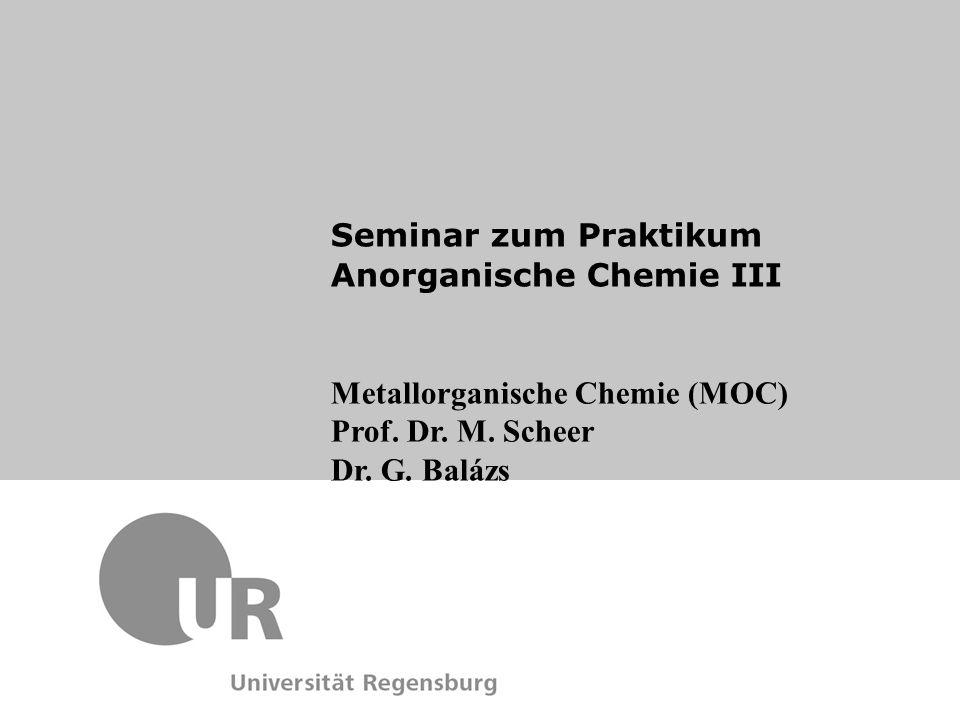 Seminar zum Praktikum Anorganische Chemie III