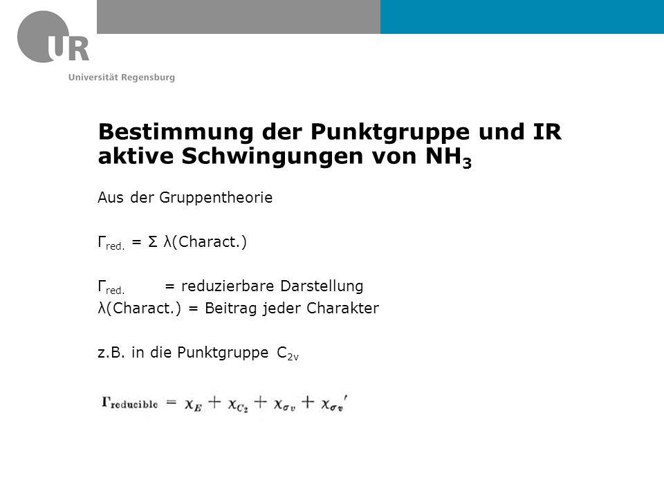 Bestimmung der Punktgruppe und IR aktive Schwingungen von NH3