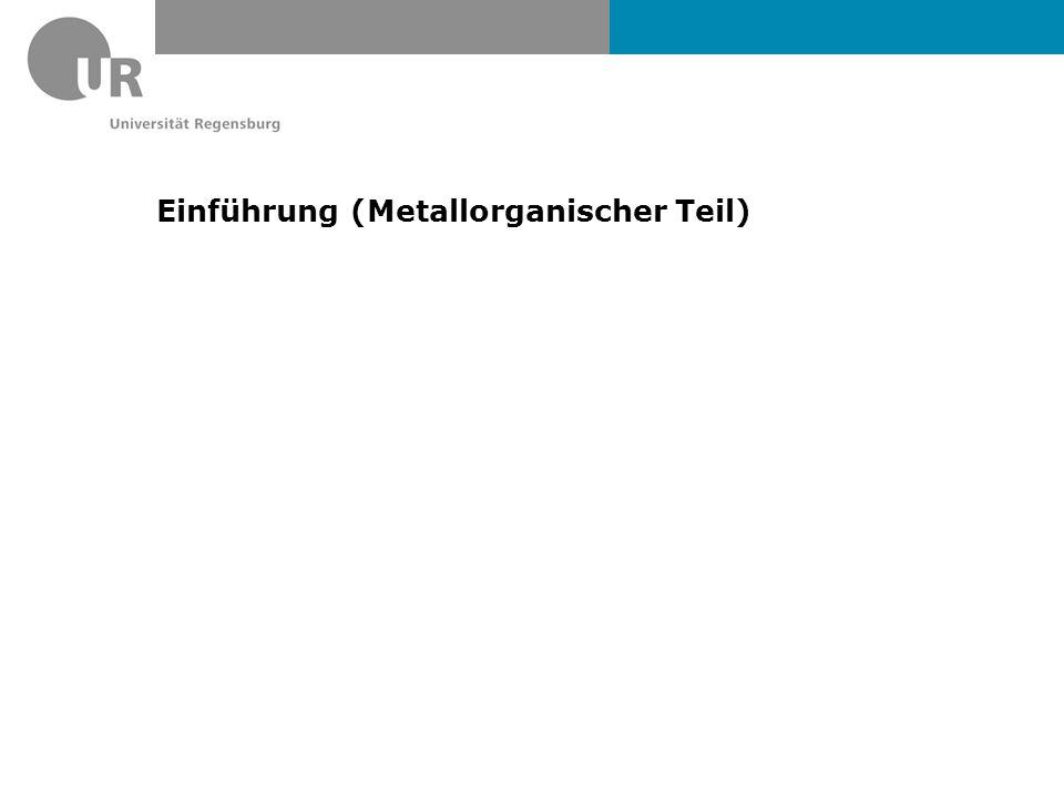 Einführung (Metallorganischer Teil)