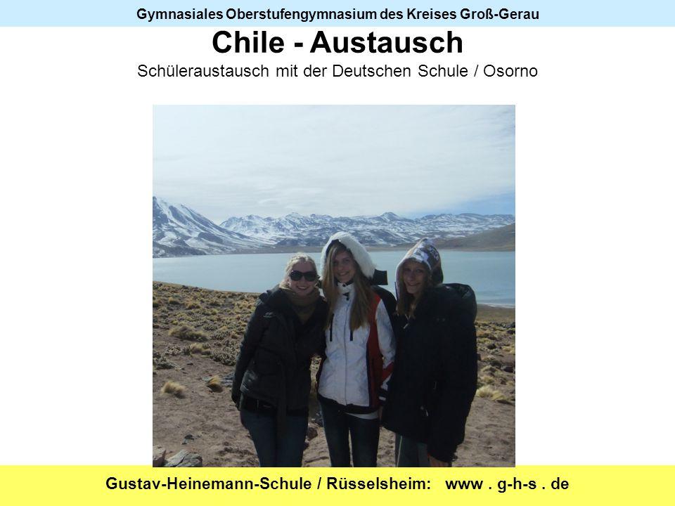 Chile - Austausch Schüleraustausch mit der Deutschen Schule / Osorno