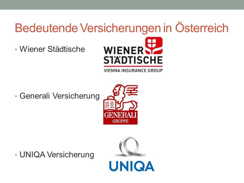 Bedeutende Versicherungen in Österreich