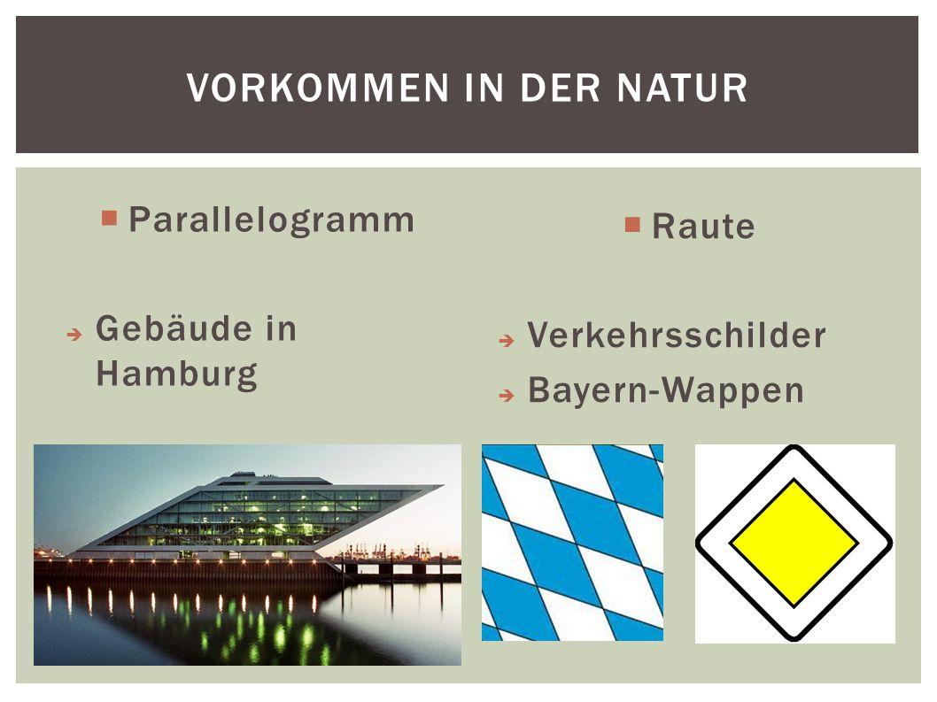 Vorkommen in der Natur Parallelogramm Raute Gebäude in Hamburg