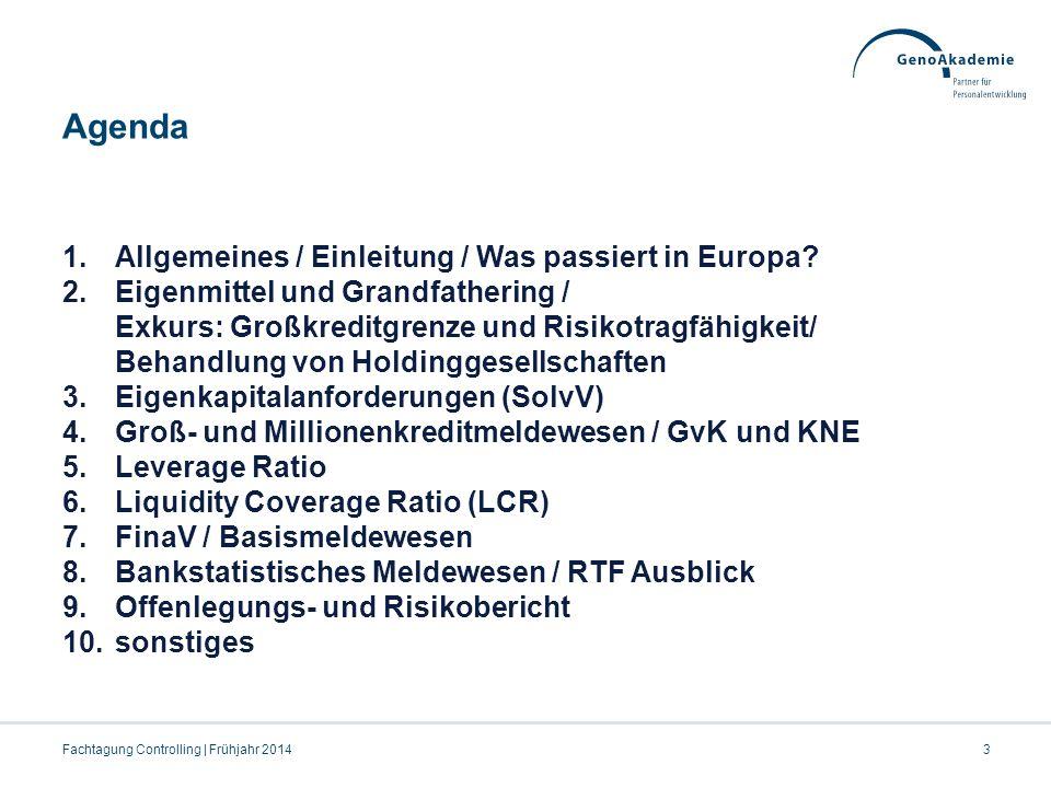 Agenda Allgemeines / Einleitung / Was passiert in Europa