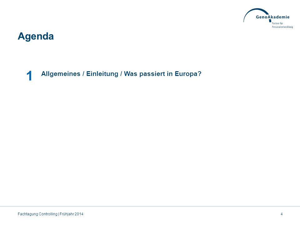 1 Agenda Allgemeines / Einleitung / Was passiert in Europa