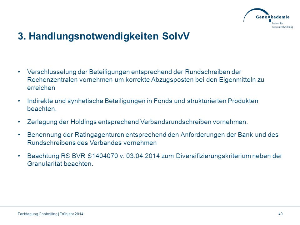 3. Handlungsnotwendigkeiten SolvV