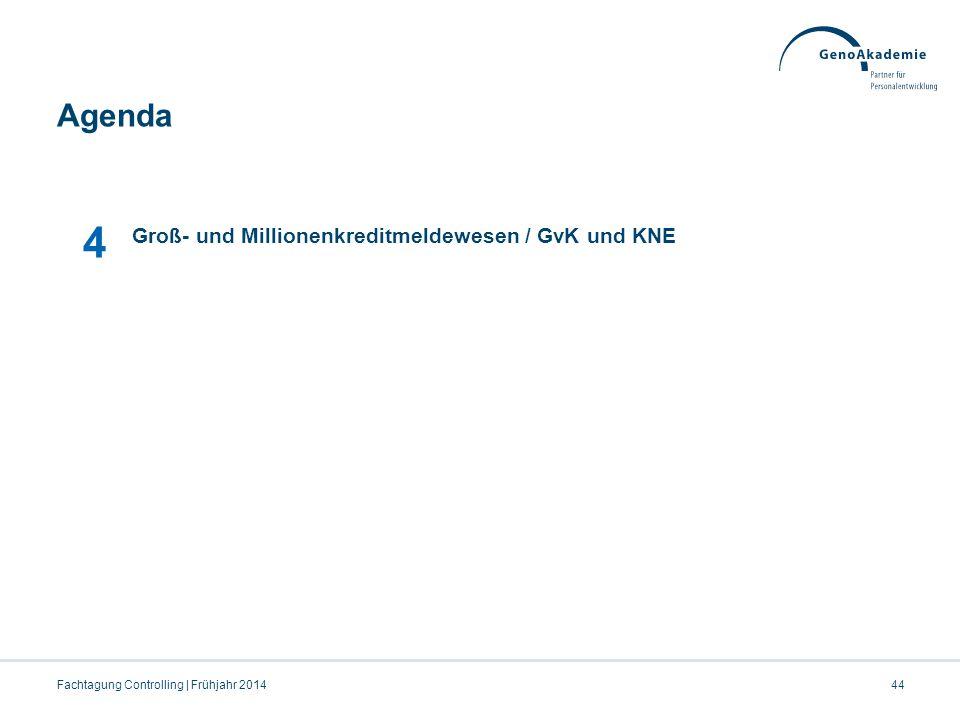 4 Agenda 07.04.2017 Groß- und Millionenkreditmeldewesen / GvK und KNE