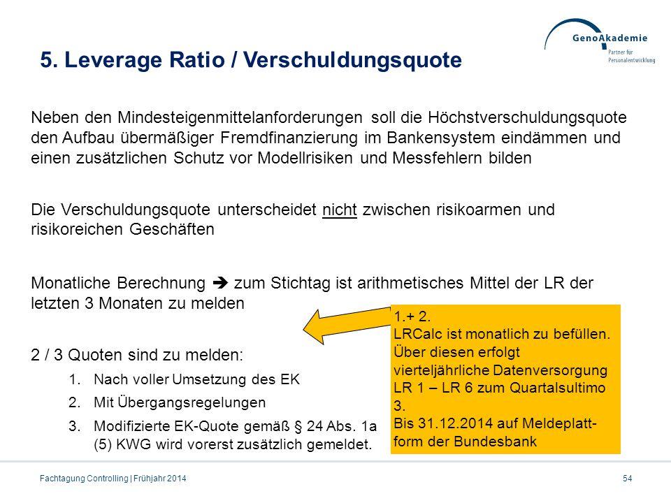 5. Leverage Ratio / Verschuldungsquote