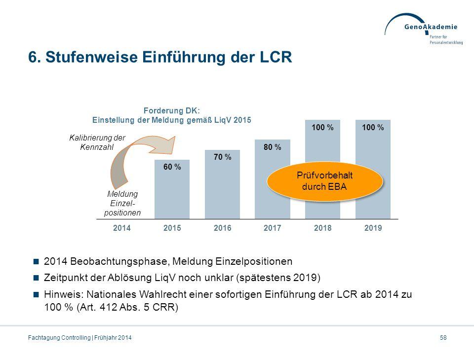 6. Stufenweise Einführung der LCR