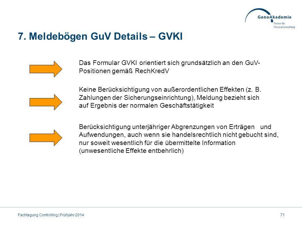 7. Meldebögen GuV Details – GVKI