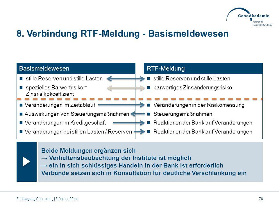 8. Verbindung RTF-Meldung - Basismeldewesen