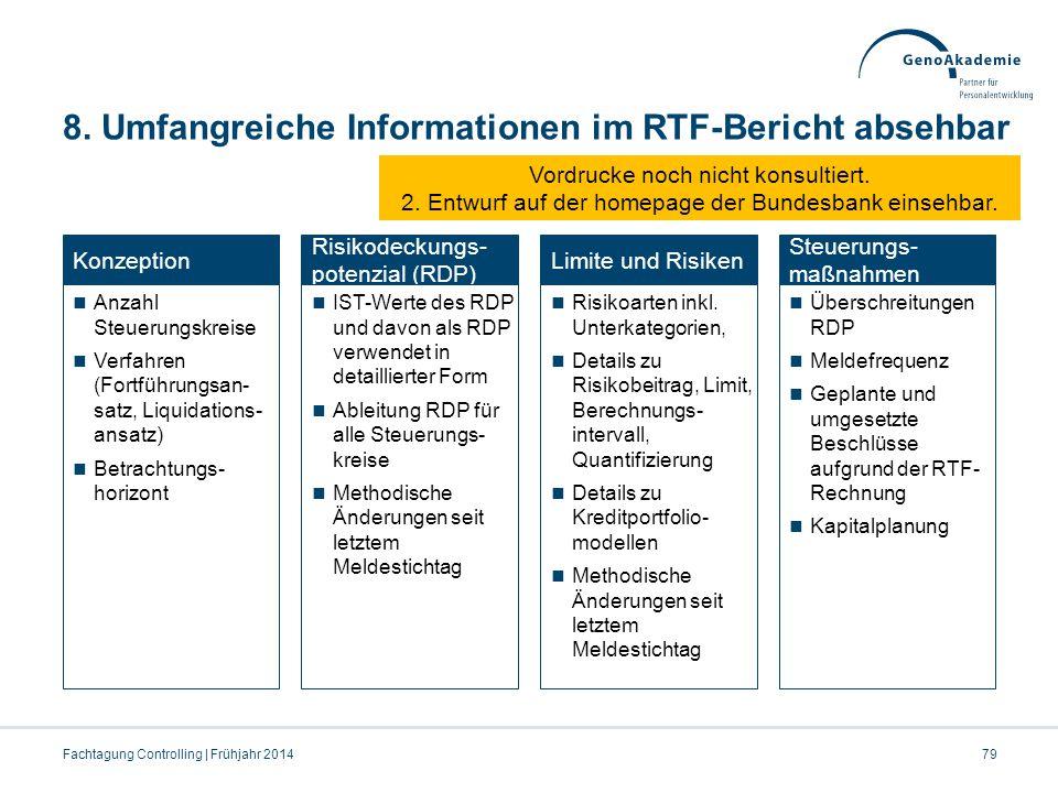 8. Umfangreiche Informationen im RTF-Bericht absehbar