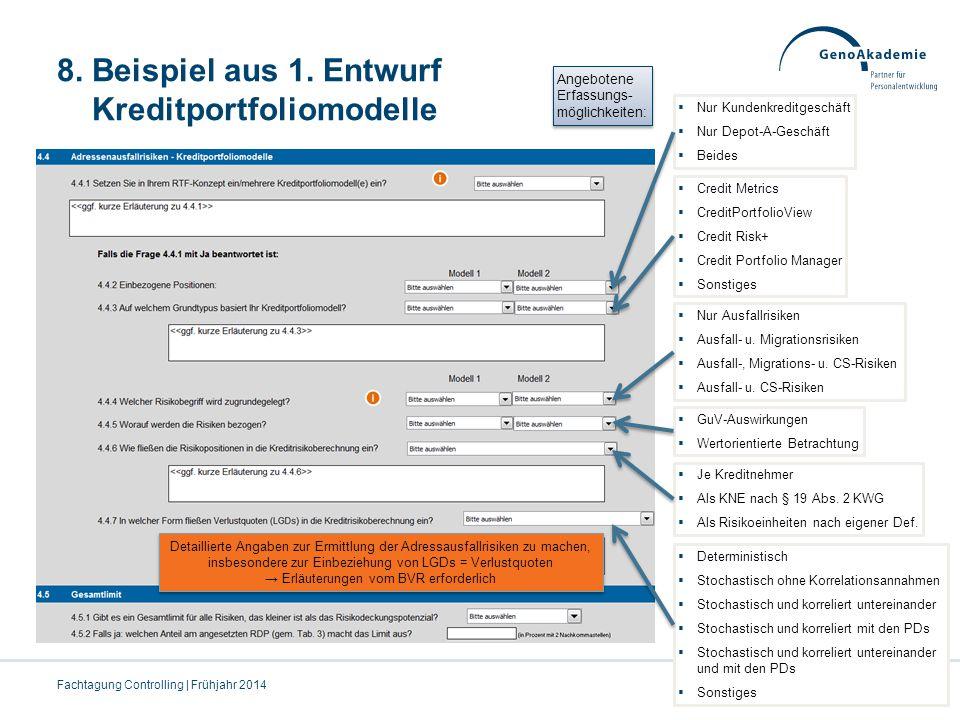 8. Beispiel aus 1. Entwurf Kreditportfoliomodelle