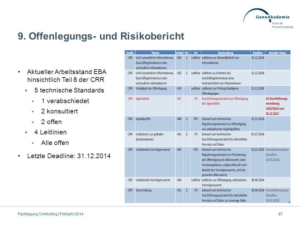 9. Offenlegungs- und Risikobericht