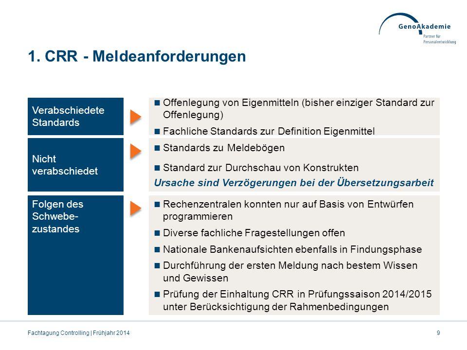1. CRR - Meldeanforderungen