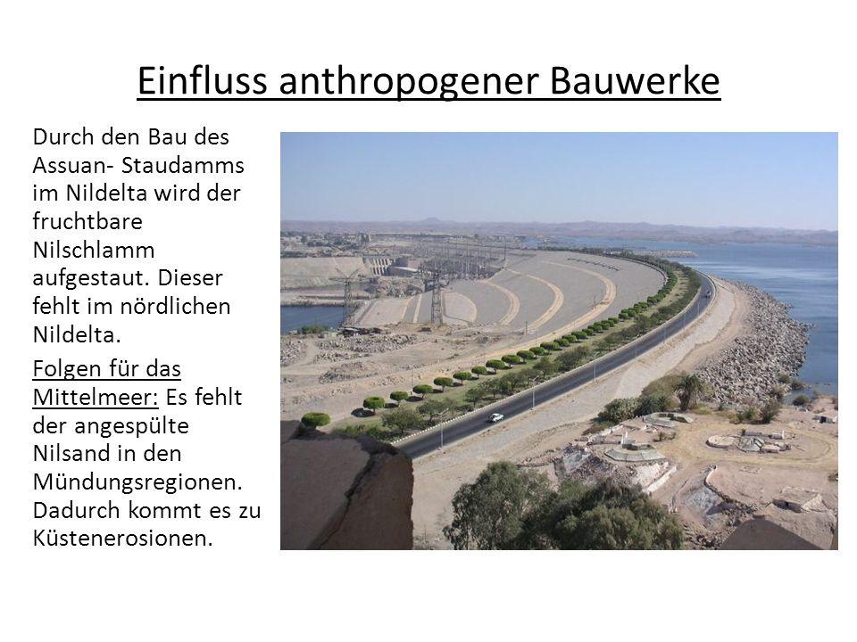 Einfluss anthropogener Bauwerke