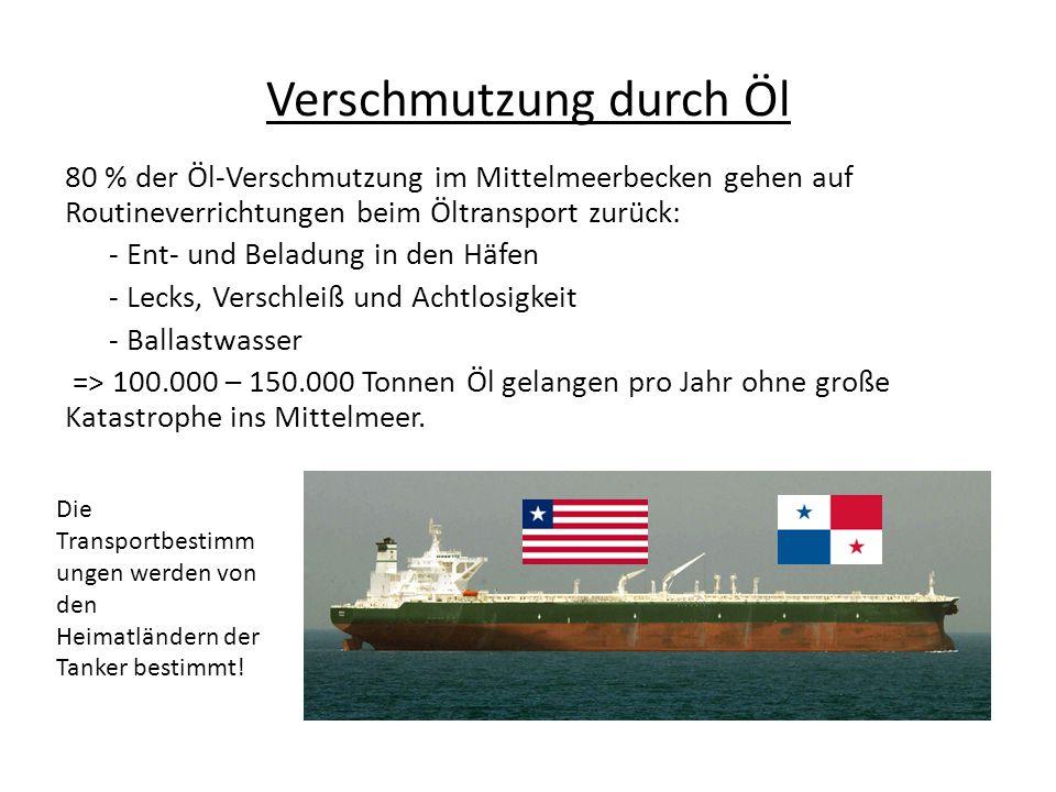 Verschmutzung durch Öl