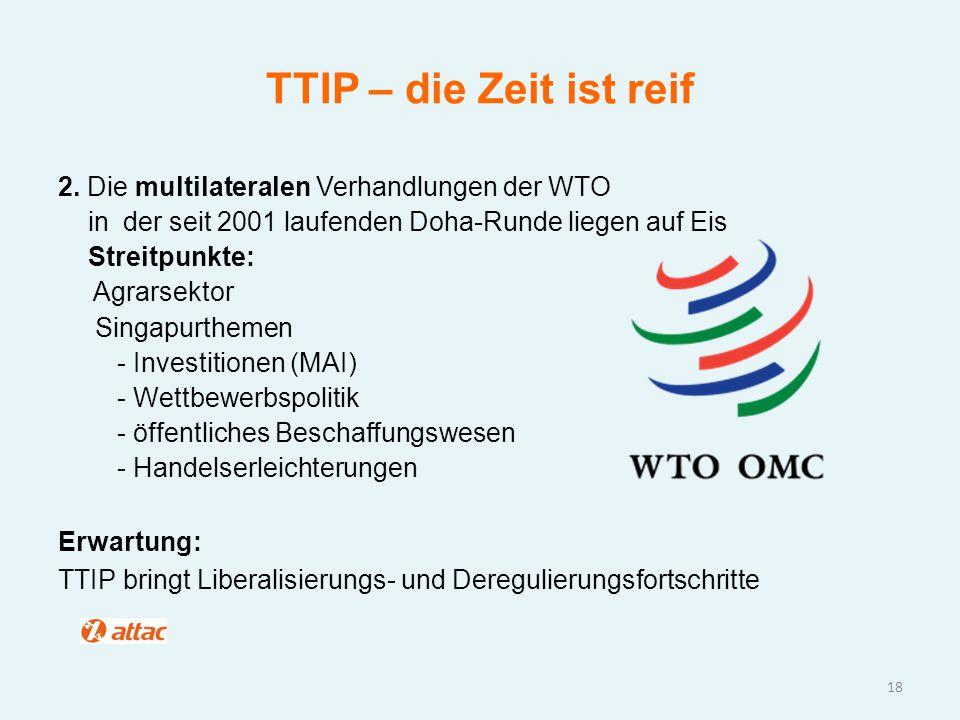 TTIP – die Zeit ist reif