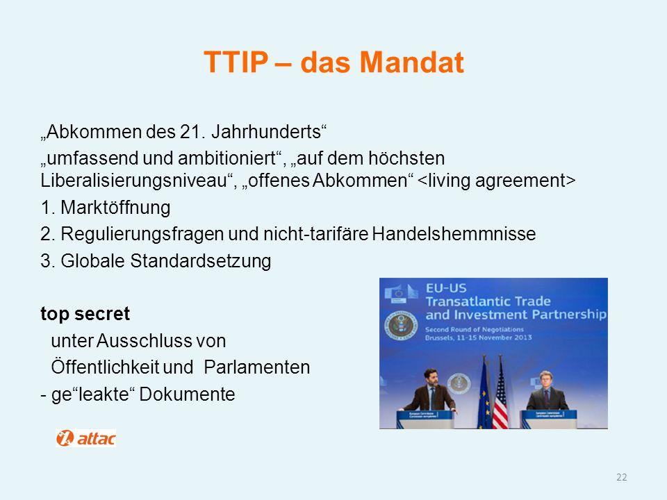 """TTIP – das Mandat """"Abkommen des 21. Jahrhunderts"""