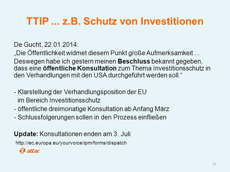 TTIP ... z.B. Schutz von Investitionen