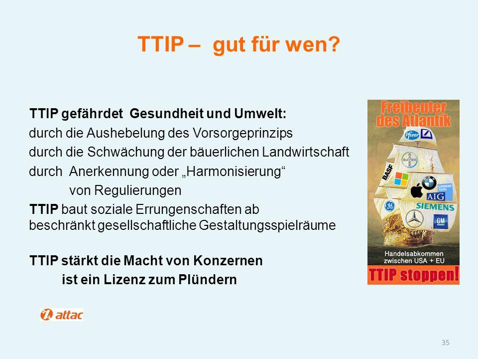 TTIP – gut für wen